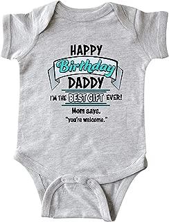Happy Birthday, Daddy in Blue Infant Creeper