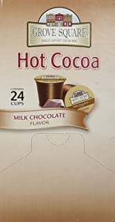 Grove Square Hot Cocoa Cups, Milk Chocolate, Single Serve Cup for Keurig K-Cup Brewers, 24-Count (Pack of 2)