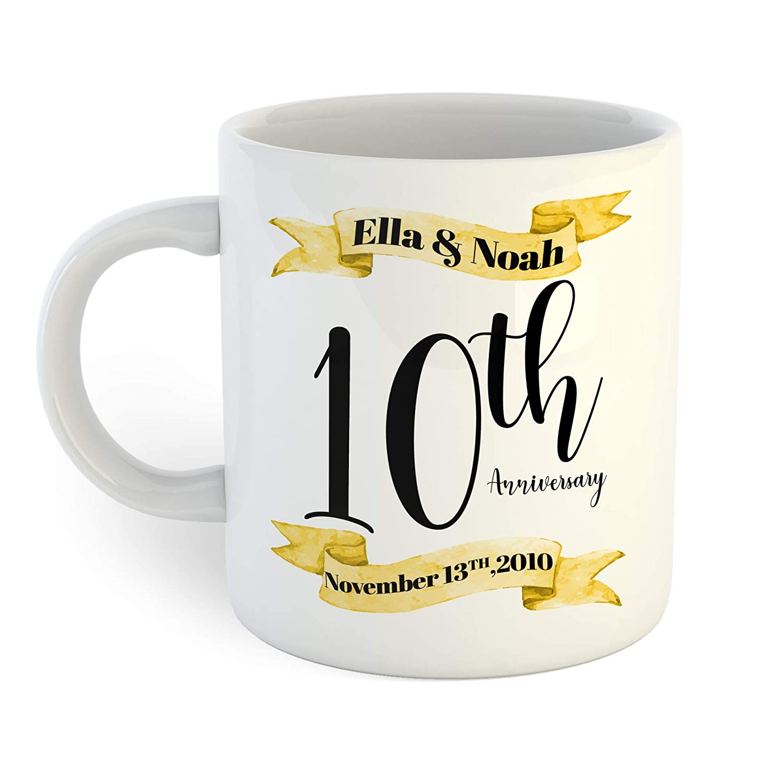 Gold Max 50% OFF Regular store and Black 10th Coffee Mug Anniversary