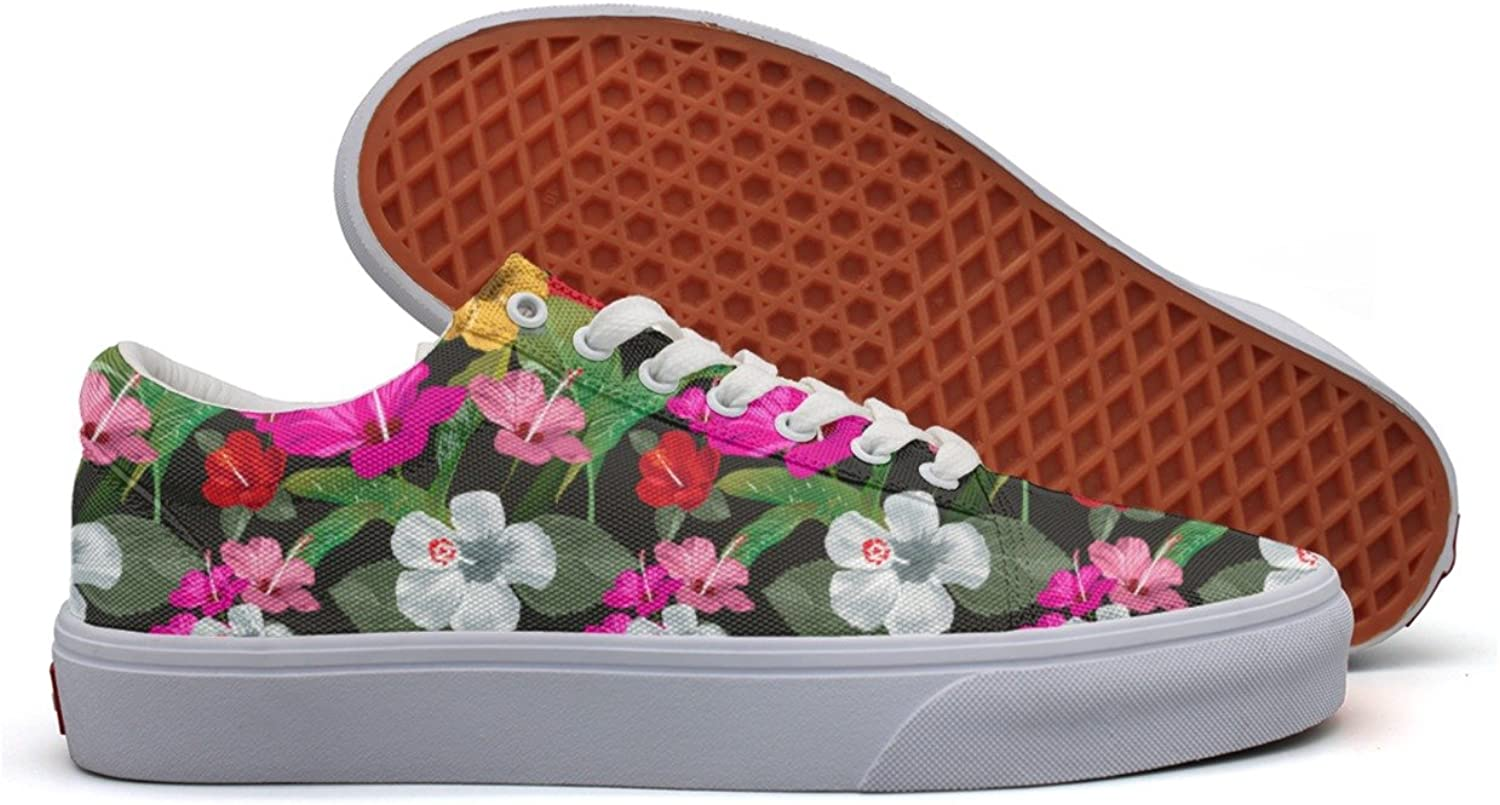 Tropical Print Floral Women's Casual Sneakers shoes Boat Cool Spring Trainers