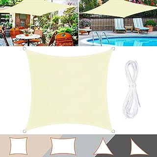 TedGem Voile d'ombrage, Voile d'ombrage, Protection des Rayons UV et Tissu Imperméable, Voile d'ombrage pour Extérieur/Ter...
