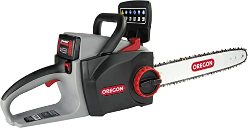 high quality Oregon Cordless 16-inch Self-Sharpening Chainsaw outlet online sale with 4.0 Ah Battery and online sale Charger online sale