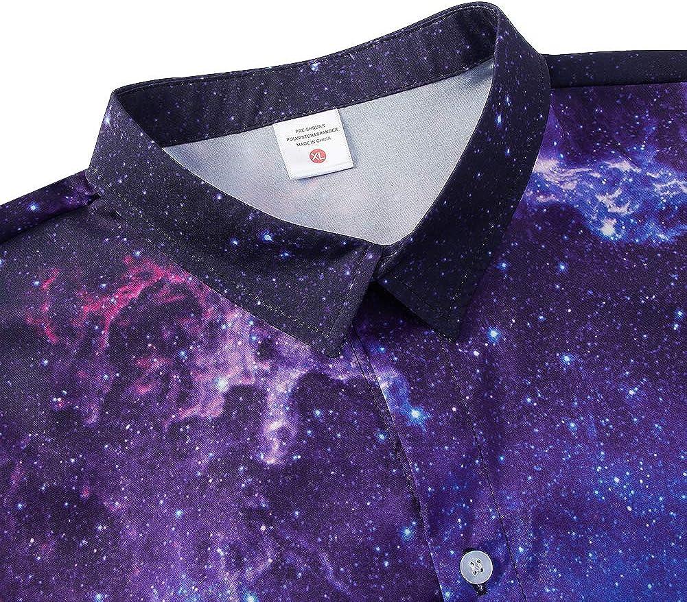 NEWISTAR Camicie Bambini e Ragazzi Stampa 3D Manica Corta Button Down Hawaiana Shirt Floreale Aloha Camicia