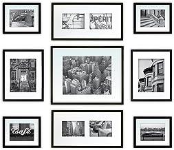 مجموعة جدارية جاليري بيرفكت مكونة من 9 قطع بإطار للصور مع مطبوعات فنية تزيينية وقالب للتعليق