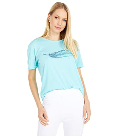tentree Featherwave Relaxed T-Shirt (Moraine Blue Heather) Women