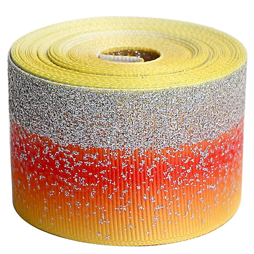 Glitter Fabric Grosgrain Ribbon 1-1/2