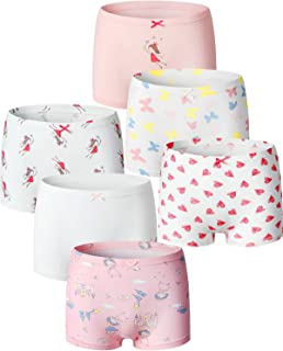 Adorel Braguitas Algodón Bóxers para Niñas Paquete de 6