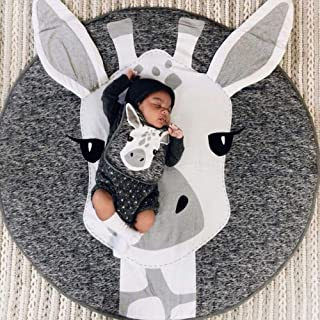 YWTB Round Giraffe Rug Carpet Cotton for Baby Floor Play mats Nursery Kids Room Decoration Diameter 31.4 inches