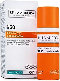 Bella Aurora Protector Solar Facial SPF +50 Piel Mixta-grasa | Crema de protección Solar 50 ml