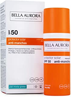 Bella Aurora Gel-Crema Solar Anti-Manchas Para Piel Mixta-Grasa SPF 50 - 50 ml