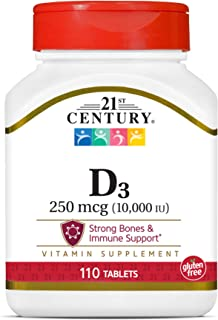 21st Century D3 10, 000 Iu Tablets, 110 Count (27504)