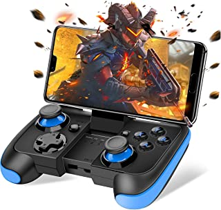 BEBONCOOL Android Wireless Game Controller with Clip for Android Phone/Tablet/Samsung/Game Boy Emulator, Works with Bluetooth (Blue)