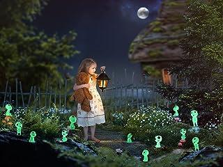 20PCS Luminous Ghost Tree Elves Miniature Fairy Garden Gnome Glow Accessories Princess Mononoke Glow in Dark Tree Elves fo...