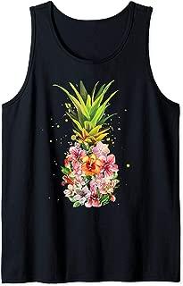 Pineapple Aloha Beaches Hawaiian Flowers Hawaii Summer Gifts Tank Top