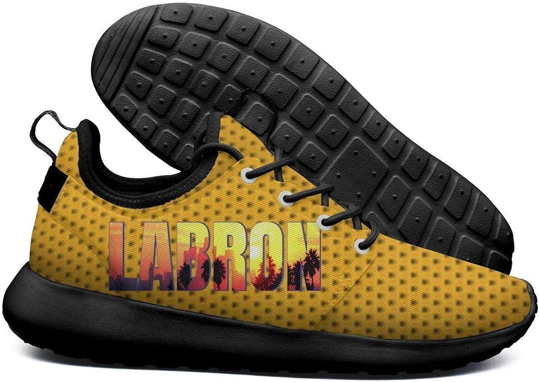 Womens Roshe Two Lightweight La_Bron_Yellow_Logo_Basketball Stylish Cross-Trainer mesh shoes