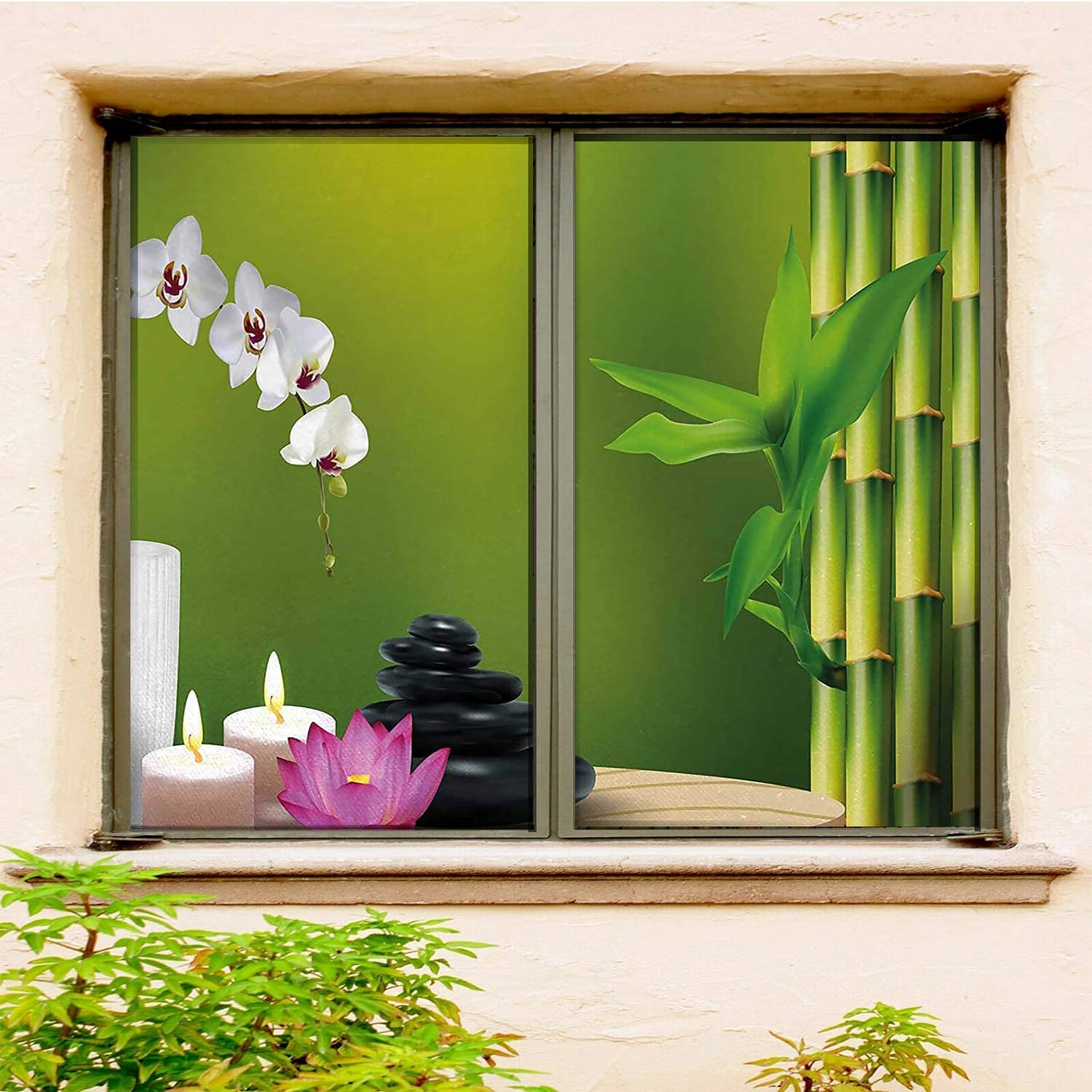 Spa Privacy Window Film 2 Recommended PCS Fuchsia Fern Heat White Max 86% OFF Green Set