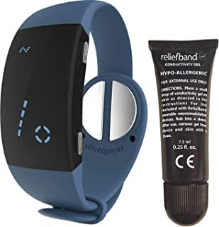Reliefband Premier Motion Sickness Wristband- Easy-to-Use, Fast, Drug-Free Nausea Relief Band Helps w/Morning Sickness, Nausea, Sea Sickness, Retching, Vomiting (USB Charging Cable Included, Slate)
