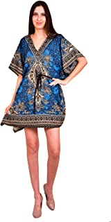 turquoise kaftan dress
