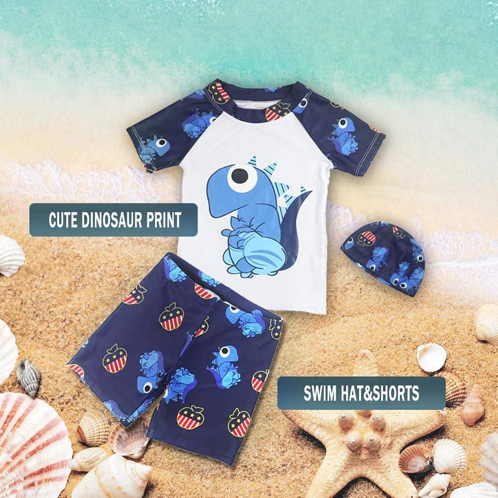 Megartico Boys/' Swimsuit Rash Guard 2 Piece Kids Bathing Suit Swim Trunk Sets