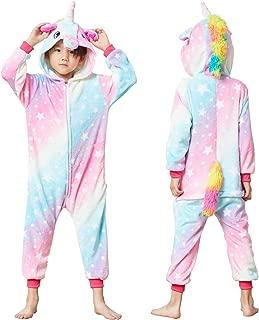 Unisex Kids Unicorn Costume Animal Onesie Pajamas Children