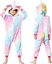 Unisex Kids Unicorn Costume Animal Onesie Pajamas Children