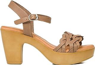 4e455cac248bc8 miMaO Chaussures. Sandales en Cuir Made in Spain. Confort. Sandales Talon  Haut.