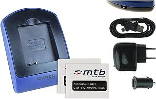2 Baterìas + Cargador (USB/Coche/Corriente) NB-6L para Canon IXUS 105 310 HS. / Powershot SX530 HS SX600 HS. - Ver Lista