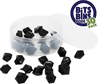 30 BitsBins PODS, Round Storage Containers for Game Pieces, Measures 2.5