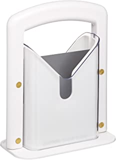 Hoan The Original Bagel Guillotine Universal Slicer, White, 9.25-Inch - 5086739