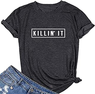 Women Killin It Graphic Cute T Shirt Funny Tees