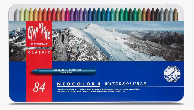 Caran Dache II Künstlerpinsel wasserlöslicher Skizzierstifte 84 Stück Neocolour im Metalletui Wax Öl Pastellkreide Set 7500_384 B00MIYZ5SI | Ausgezeichneter Wert