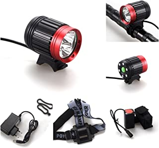 1 Pcs Outstanding Popular Style 4 Modes 6000Lm 3x LED Bike Lights Bicycle Lamp Rechargeable Torch Waterproof Design Color Black with Red
