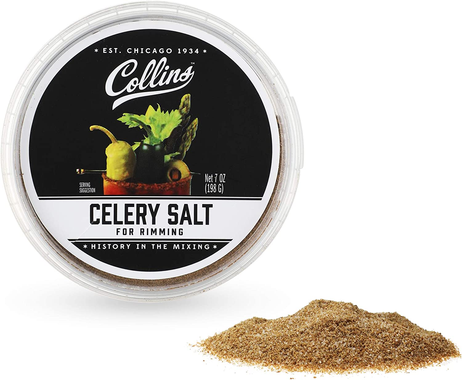 OFFicial site Collins High material Celery Salt Rimmer for Rimming fo Glass Cocktails