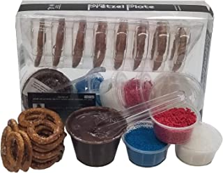 Do It Yourself (DIY) Chocolate Pretzel Dipping Kit by The Pretzel Plate. A Fun, Delicious and Creative Activity. Perfect For Birthday Parties, Gifts, And Get Togethers. Suitable For Every Age Group.