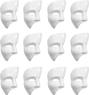 Beistle S60820-WAZ12 Phantom Masks, White