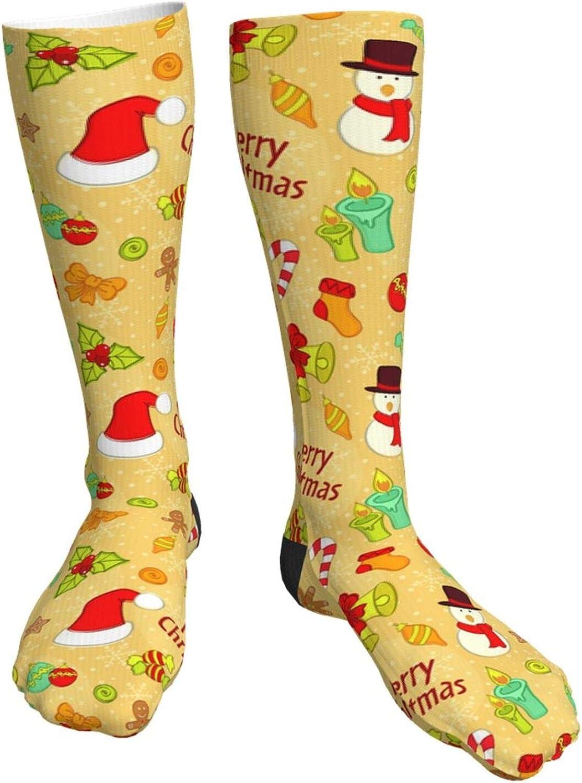 Cartoon trust Candy Great interest Christmas Ball Elk Unisex Crew Socks Long Casual S