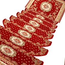 HAIPENG Self Adhesive Staircase Treads Carpet Step Stair Rugs Pads Runner Mats Anti Slip Home, Customized, 3 Sizes, 8 Colo...