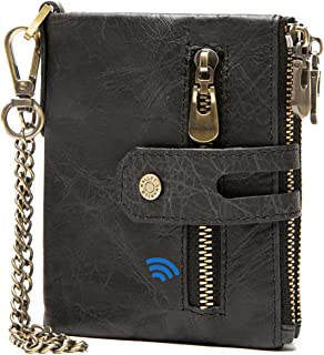 $28 » Sponsored Ad - Smart Bluetooth Tracker Wallet Finder Item Locator Record Men Wallets Vintage Crazy Horse Leather Purse (Bl...