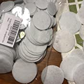 YYCRAFT Pack Of 300 Pieces Thick Stiff White Felt Circle Applique-3 Sizes