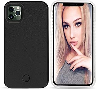 LONHEO iPhone 11 Pro Led Case iPhone 11 Pro Illuminated Cell Phone Case Great for a Bright Selfie and Facetime Light Up Case Cover for iPhone 11 Pro - Black