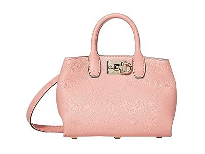 Salvatore Ferragamo The Studio Crossbody (Desert Rose) Cross Body Handbags