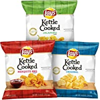 40 Count Lay's Kettle Cooked Potato Chips Variety Pack
