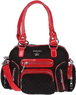 Christian Wippermann Große Damen Tasche Umhängetasche Schultertasche Shopper Handtasche Stofftasche Rot