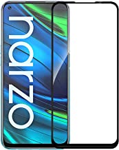 VENI SON S 6D 11D Crystal Clear Full Glue Edge to Edge Tempered Glass Screen Protector Compatible with Realme Narzo 20 Narzo20A Narzo 20 Pro with Free Easy Installation kit Black