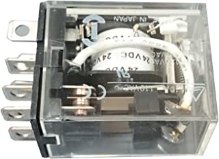 Omron LY2N-D2-DC24 General Purpose Relay, LED Indicator and Diode Surge Suppression Type, Plug-In/Solder Terminal, Standard Bracket Mounting, Single Contact, Double Pole Double Throw Contacts, 36.9 mA Rated Load Current, 24 VDC Rated Load Voltage