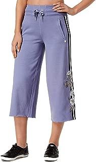Performance Womens Culotte Fitness Capri Pants Purple S