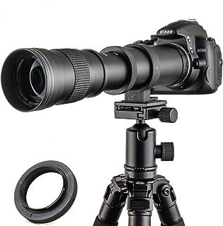 Jintu teleobiettivo zoom 420 800 mm, F/8.3 16, Full Frame, messa a fuoco manuale, per fotocamera digitale Nikon D7100 D80 ...