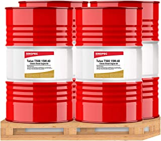 Sinopec Tulux T500 15W40 Classic Diesel Engine Oil - 55 Gallon Drum (4)