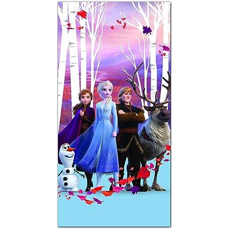Theonoi Ice Princess Childrens Towel Sauna Towel Beach Towel Bath Towel 70 x 140 cm Gift Girls Microfibre Frozen II