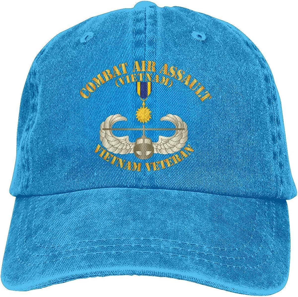 Combat Air Assault Vietnam W Air Medal Baseball Cap, Adjustable Size Dad Hat, Vintage Baseball Hats for Men Woman